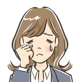 吹き出し女性泣き顔