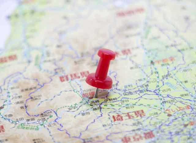 群馬県地図画像